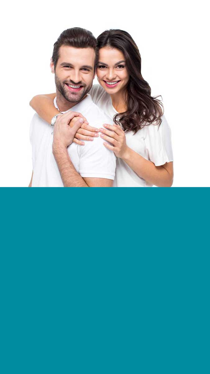 an image of a couple who did their zoom whitening in milton